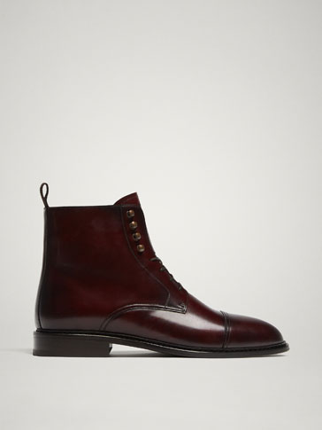 LIMITED EDITION BURGUNDY LEATHER BOOTS