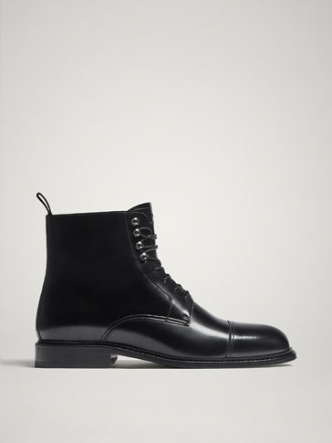 BOTTES NOIRES CUIR LIMITED EDITION