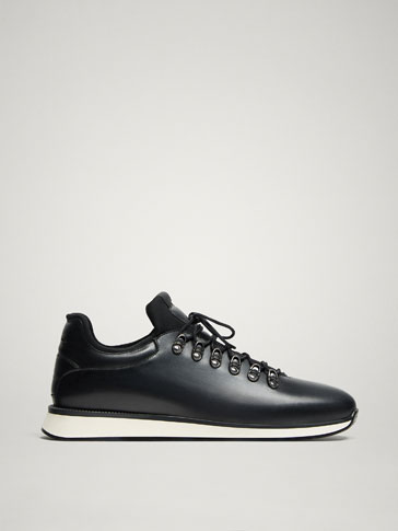 LIMITED EDITION BLACK LEATHER SNEAKERS