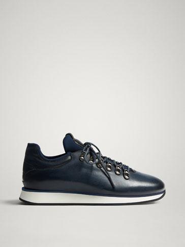 حذاء رياضي جلدي أزرق LIMITED EDITION