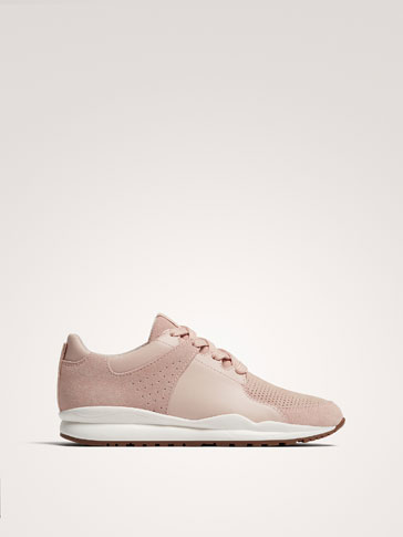 TENNIS ROSE CUIR