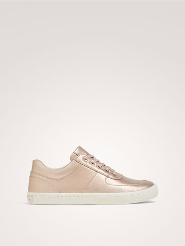 METALLIC LEATHER PLIMSOLLS