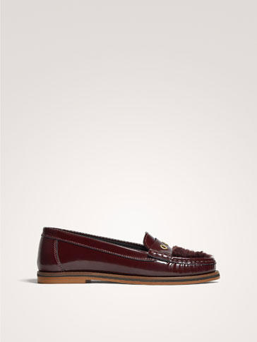 MOCASSINO IN PELLE ANTIK BORDEAUX
