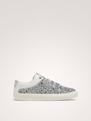 SILVER LEATHER PLIMSOLLS