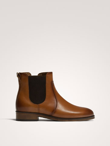 BOTTINES CUIR NAPPA MARRON