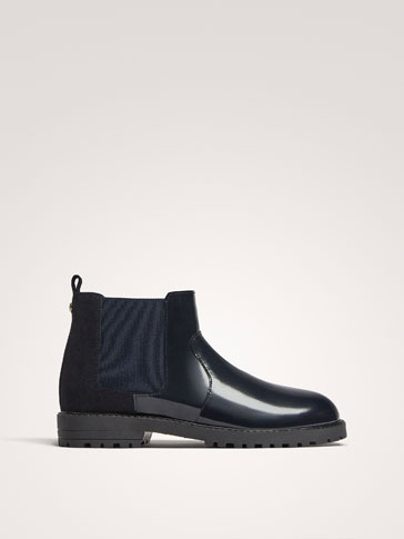 STIVALETTO IN PELLE ANTIK BLU
