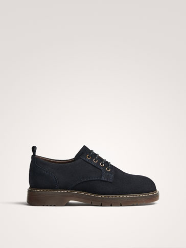 BLUE SPLIT SUEDE LEATHER SHOES