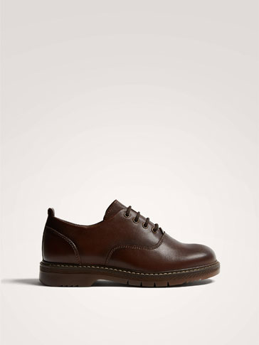 BROWN NAPPA LEATHER SHOES