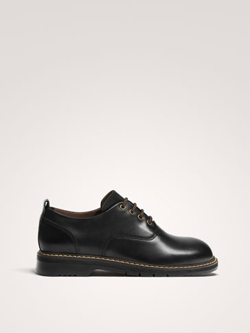 BLACK NAPPA LEATHER SHOES