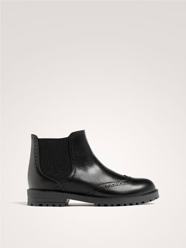 BOTTINES CUIR NOIRES