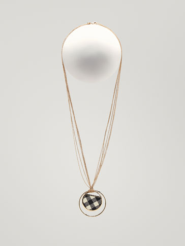 COLLIER CUIR CARREAUX VICHY