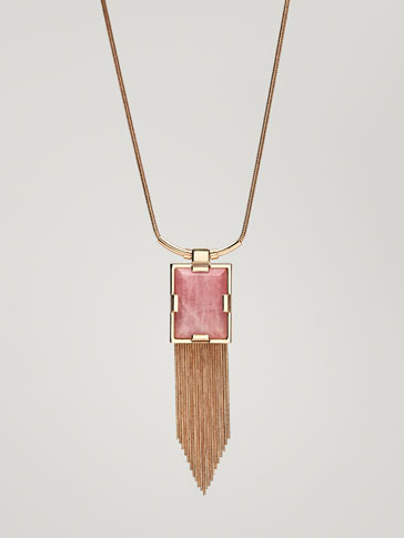 NECKLACE WITH QUARTZ DETAIL