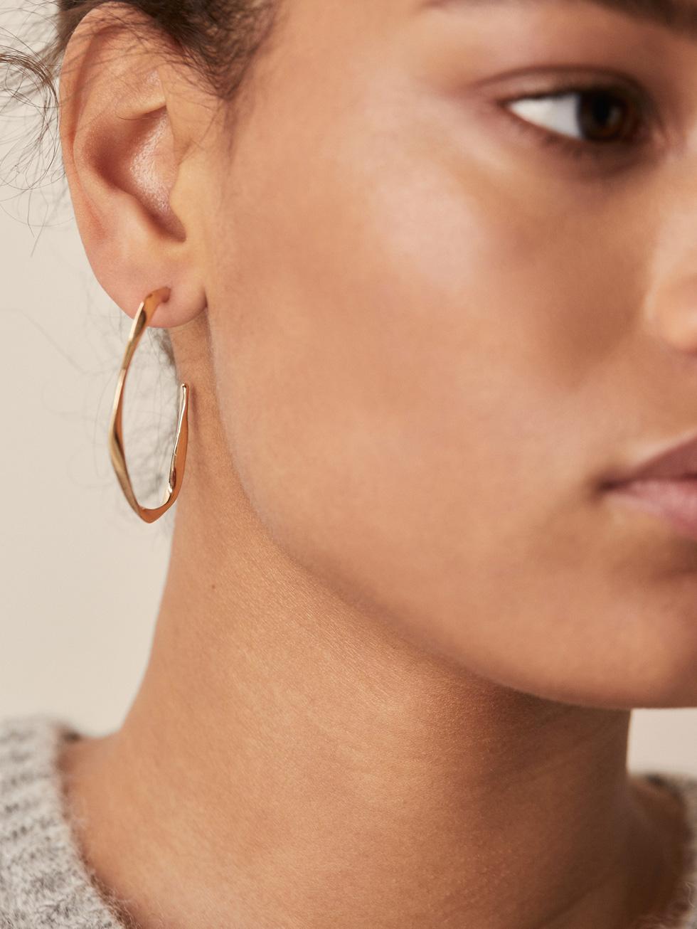 Irregular Hoop Earrings by Massimo Dutti
