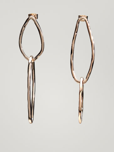 ASYMMETRICAL DOUBLE HOOP EARRINGS