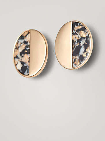 MARBLE-EFFECT EARRINGS