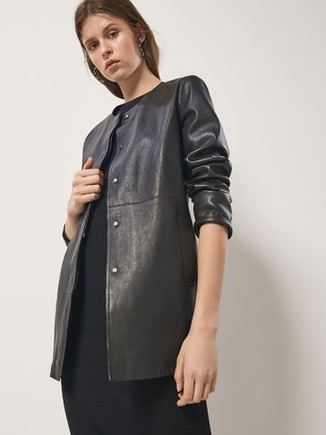 BLACK NAPPA COAT
