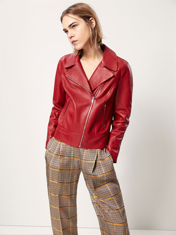 BIKER JACKET WITH POLISHED EDGES