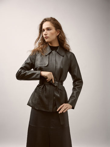 NAPPA JACKET WITH BELT DETAIL