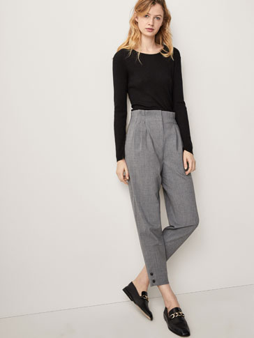 WOOL TROUSERS WITH BUTTONS