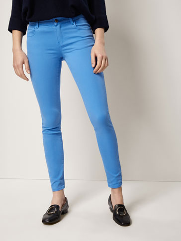SATIN SKINNY FIT TROUSERS