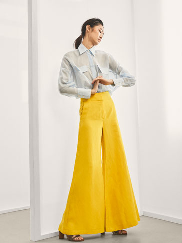 LIMITED EDITION LINEN PALAZZO TROUSERS