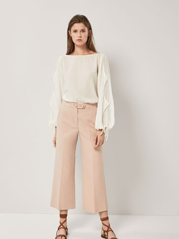 CULOTTE FIT TROUSERS WITH BUTTONS