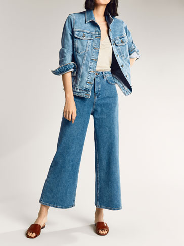 DENIM BROEK CULOTTE FIT
