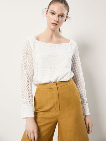 GEOMETRIC GUIPURE TOP