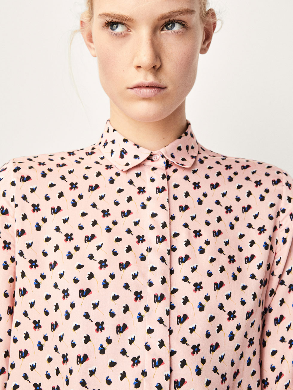 Koszula W Kwiatowy DeseŃ by Massimo Dutti