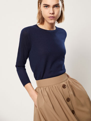 PULL EN PUR CACHEMIRE COL ROND