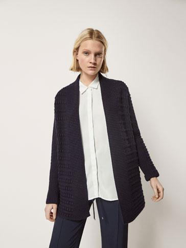 STRUCTURED CARDIGAN