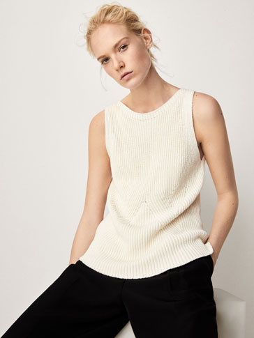 TEXTURED WEAVE TOP