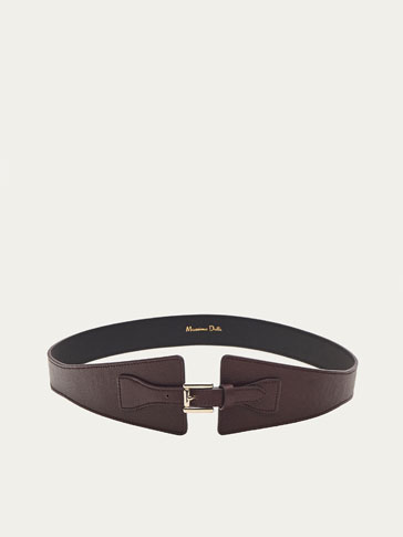 SASH-STYLE LEATHER BELT