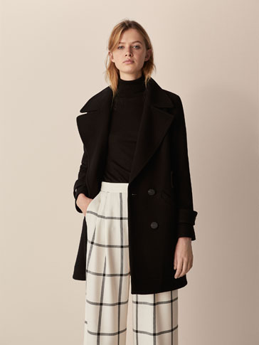 COAT WITH WAIST DETAIL