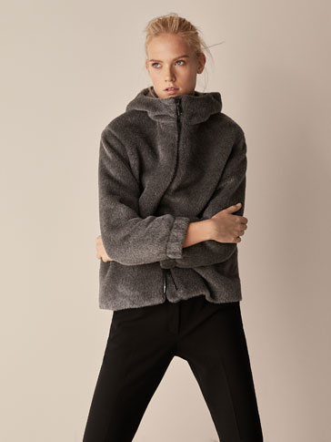 TEXTURED JACKET WITH HOOD
