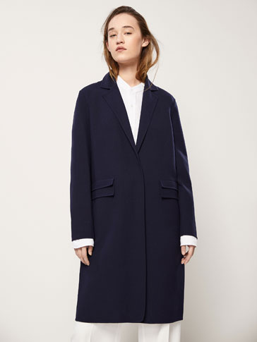 DECONSTRUCTED COAT WITH LAPEL DETAIL
