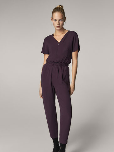 LONG BURGUNDY JUMPSUIT
