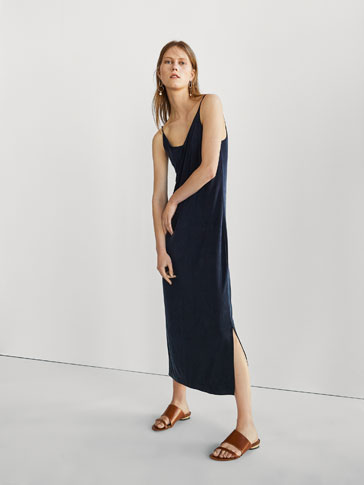 FLOWING CUPRO DRESS