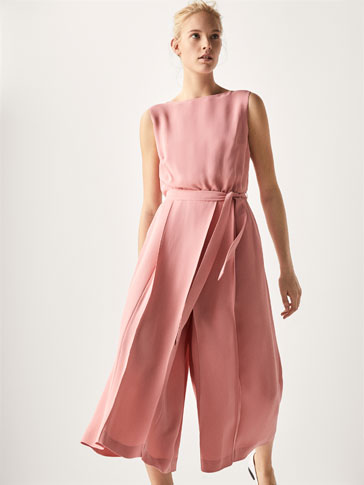Jumpsuit With Pleats by Massimo Dutti