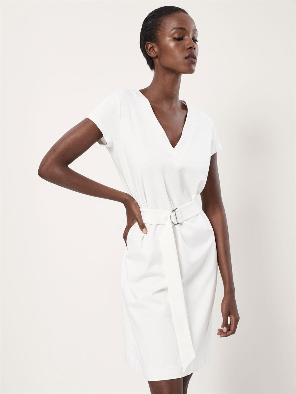 Vestidos blancos massimo dutti