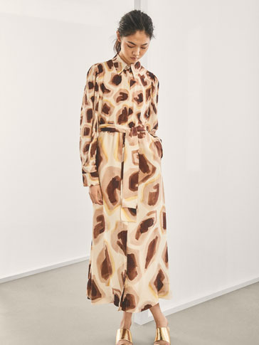 VESTIDO SEDA ESTAMPADO GIRAFFE LIMITED EDITION