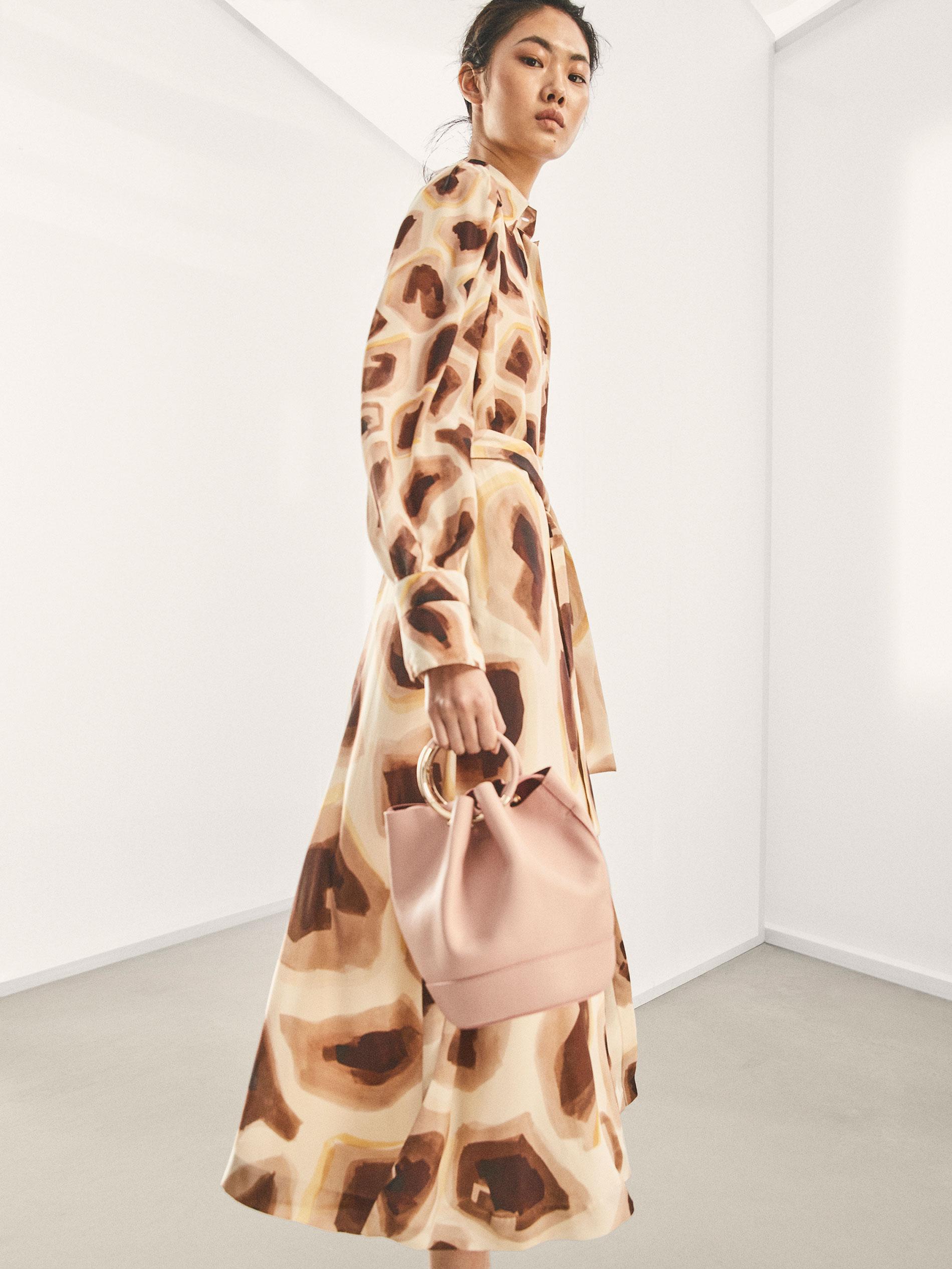 5a72b9abd9 Massimo Dutti LIMITED EDITION GIRAFFE PRINT SILK DRESS at £229 ...