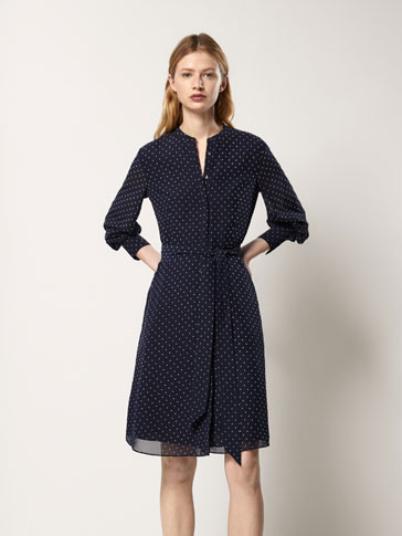 POLKA DOT DRESS WITH BOW DETAIL