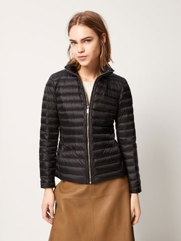 DOWN JACKET WITH SATIN DETAIL