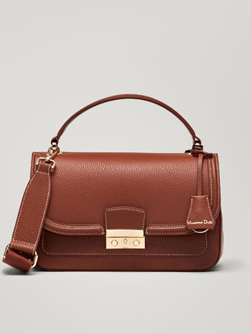 LEATHER BAG WITH EMBOSSED DETAILING