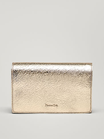 METALLIC LEATHER HANDBAG