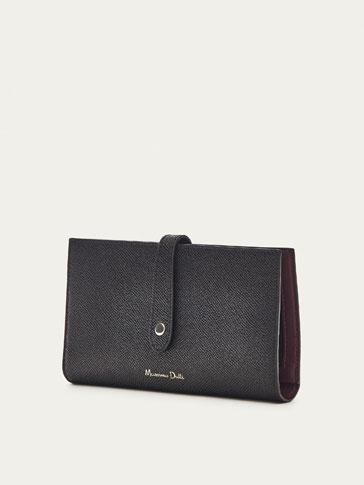 LEATHER WALLET WITH TWO-TONE DETAIL