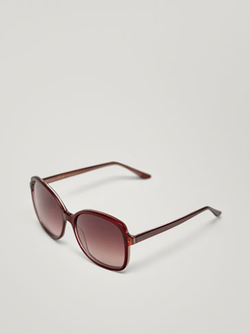 BURGUNDY SQUARE SUNGLASSES