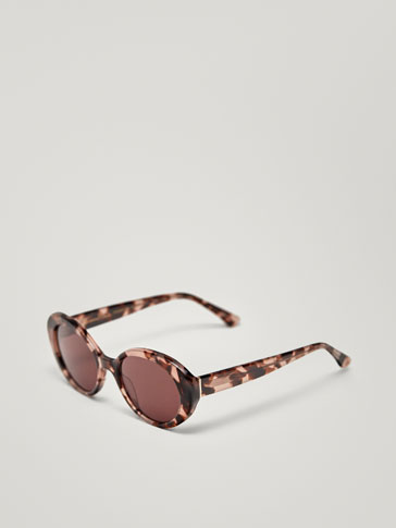 CAT-EYE SUNGLASSES WITH TORTOISESHELL FRAME