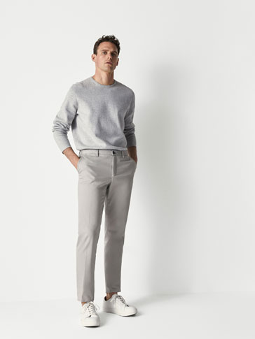 SLIM FIT PLAIN PIMA CHINOS